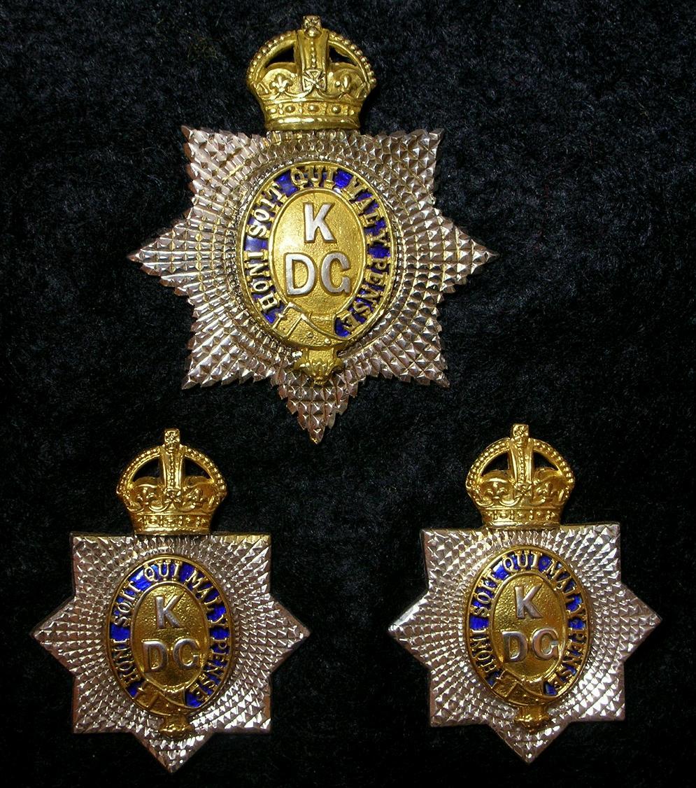 1st (King's) Dragoon Guards Badges