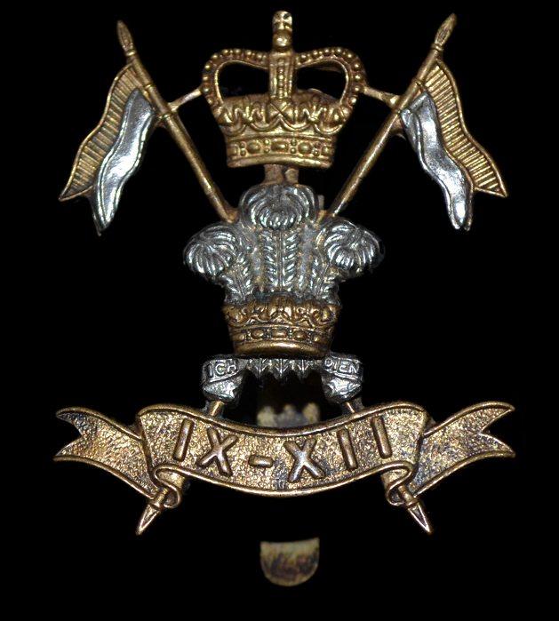 9th  12th Royal Lancers Cap Badges