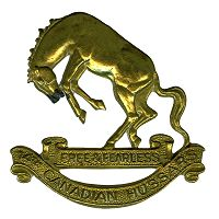 14th Canadian Hussars Cap Badge