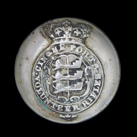 Cinque Ports Volunteer Rifles Uniform Button