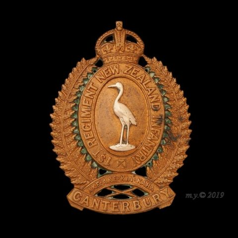 1st Canterbury Regiment Cap Badge