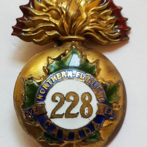 228th Battalion CEF Sweetheart Pin