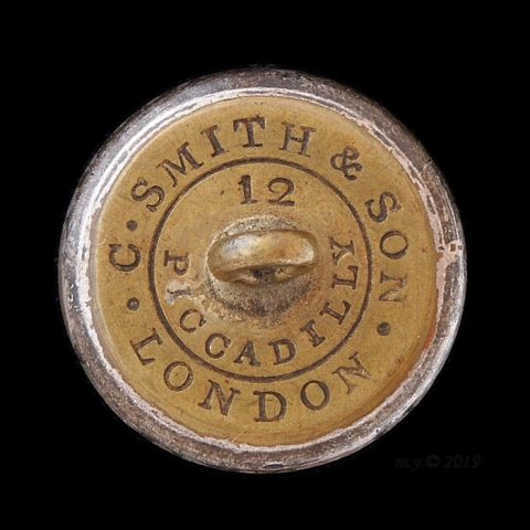 C. Smith and Son, 12 Piccadilly, London, button backmark, 5 New Burlington St.,