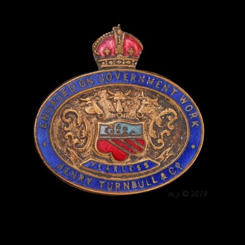 Henry Turnbull & Co. Engaged on Government Work Lapel Badge