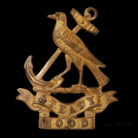 7th (Hood) Battalion, Royal Naval Division Cap Badge