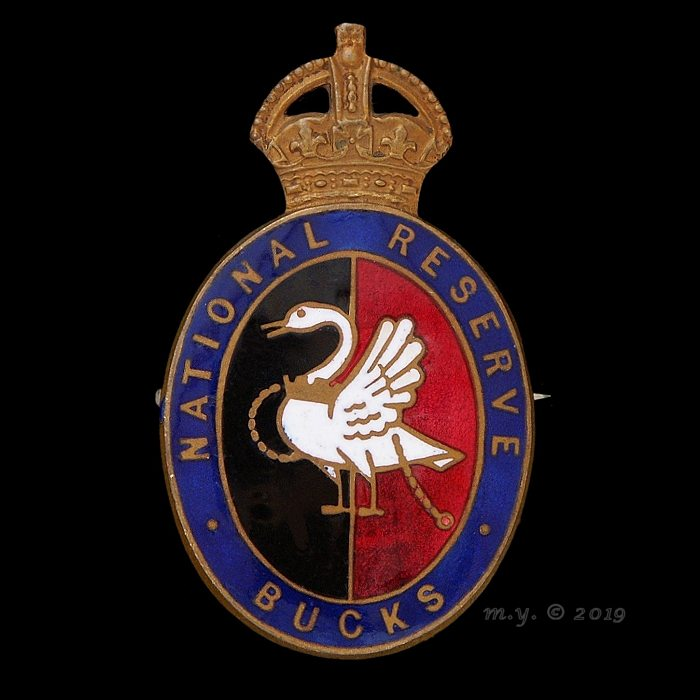 National Reserve Buckinghamshire Lapel Badge