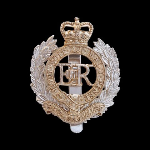 Royal Engineers Staybrite Cap Badge