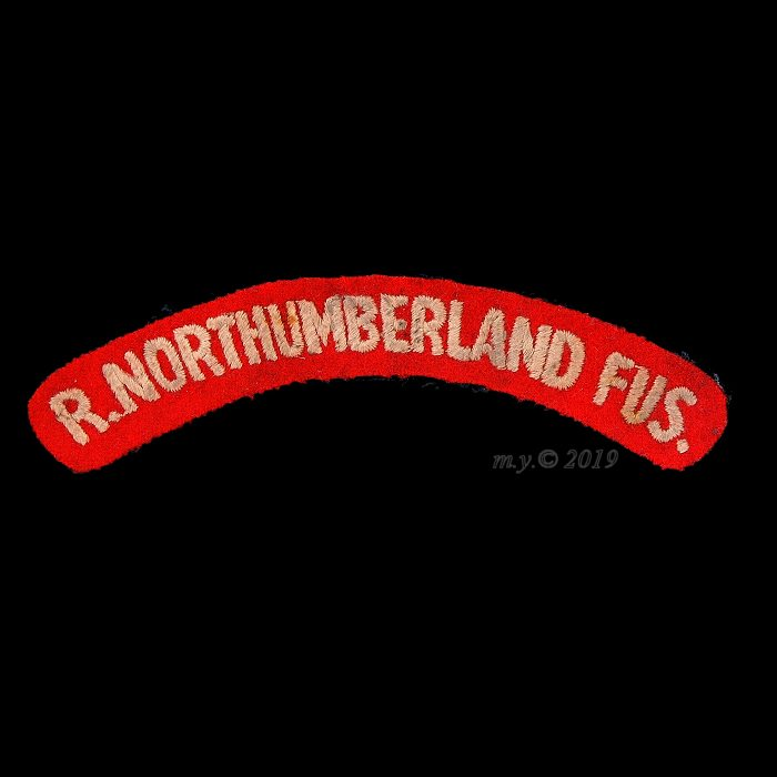 Royal Northumberland Fusiliers Officer's Cloth Shoulder Title. 1945-47