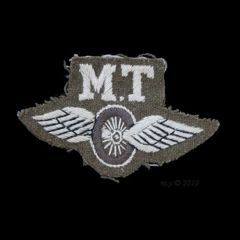 Winged Wheel 'M.T.' Motor Transport Proficiency Badge