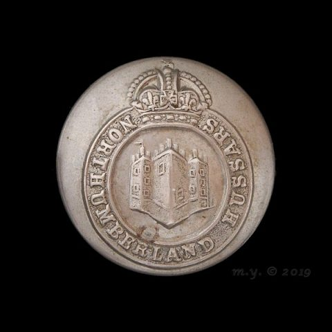 Northumberland Hussars Yeomanry Uniform Button