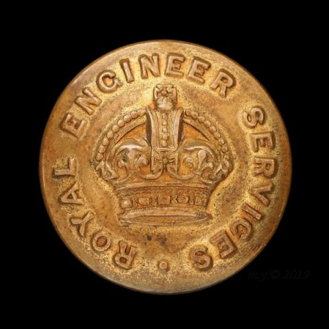 Royal Engineer Services Uniform Button