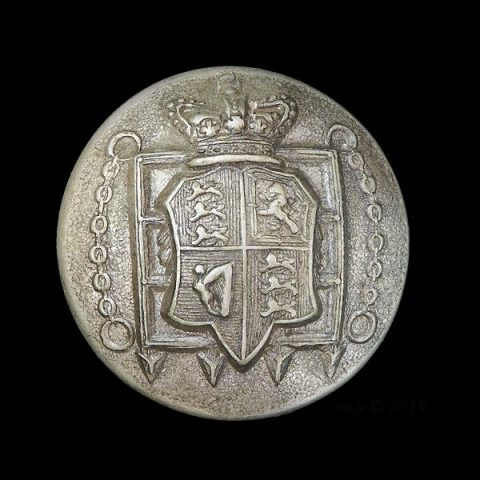 13th Middlesex (Queen's Westminster) Volunteer Rifle Corps Uniform Button