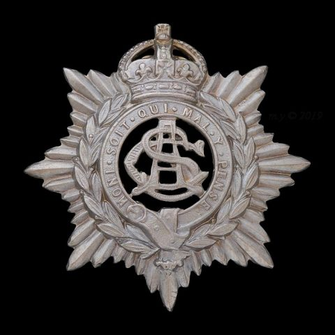 Army Service Corps Volunteers Forage Cap Badge 1901-08