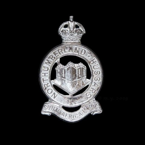 Northumberland Hussars Silver Plate Cap Badge (KC)