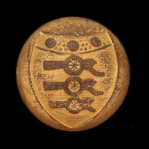 1790 1802 Royal Artillery Uniform Button