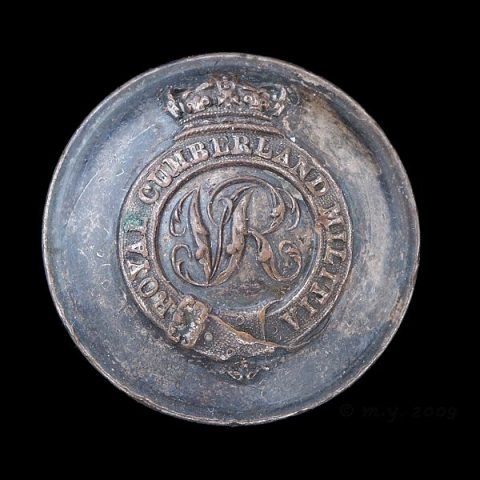 Royal Cumberland Militia Uniform Button