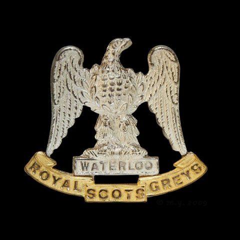 Royal Scots Greys (2nd Dragoons) Silver & Gilt Cap Badge