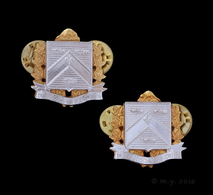 12e Régiment Blindé du Canada Collar Badges