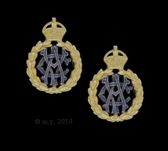 Army Veterinary Corps Officers' Collar Badges