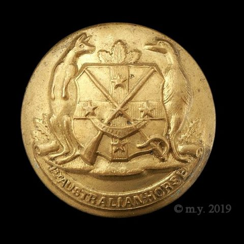 Australian Horse (New South Wales) Uniform Button 1897-1903