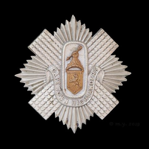 Cape Town Highlanders Cap Badge ( Helmet & Tam-O'Shanter)