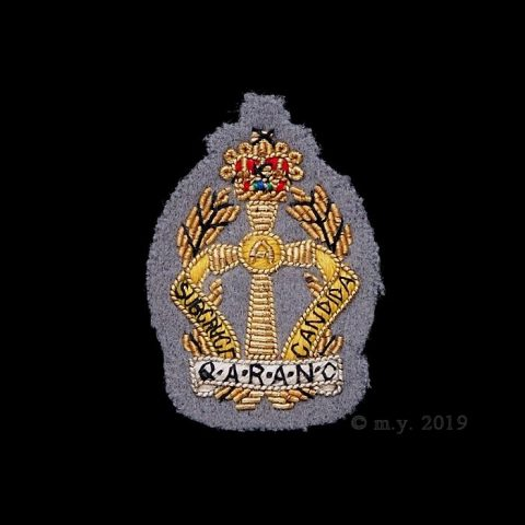Queen Alexandra's Royal Army Nursing Corps Bullion Embroidered Cap Badge