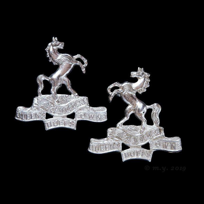 Queen's Own Buffs, The Royal Kent Regiment Officers Collar Badges