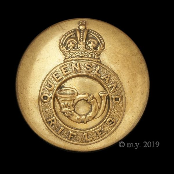 Queensland Rifles (Volunteers) Uniform Button 1901-1903