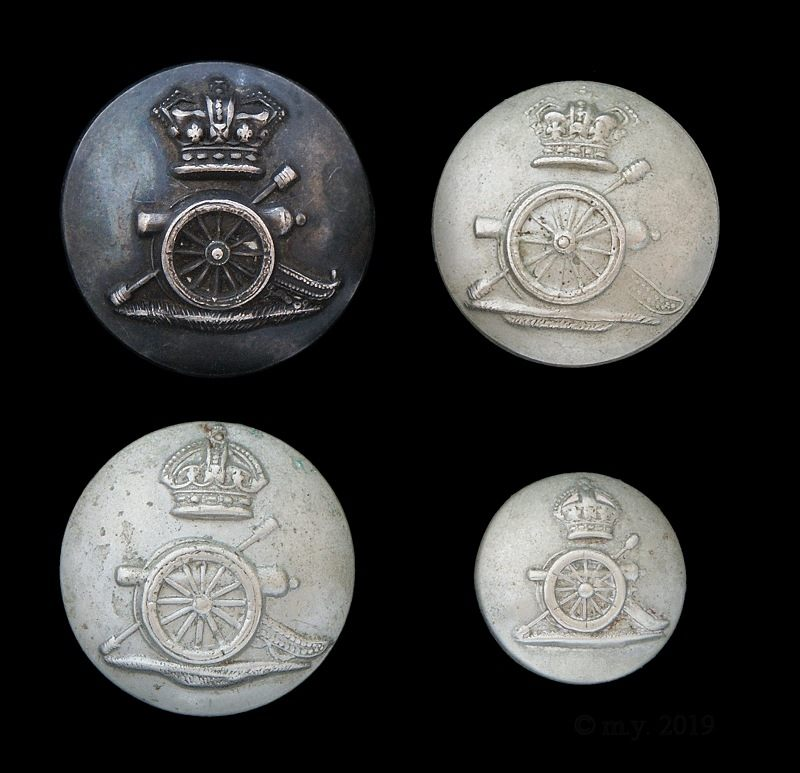 Royal Artillery Volunteer Buttons.