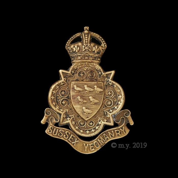 Sussex Yeomanry Cap Badge