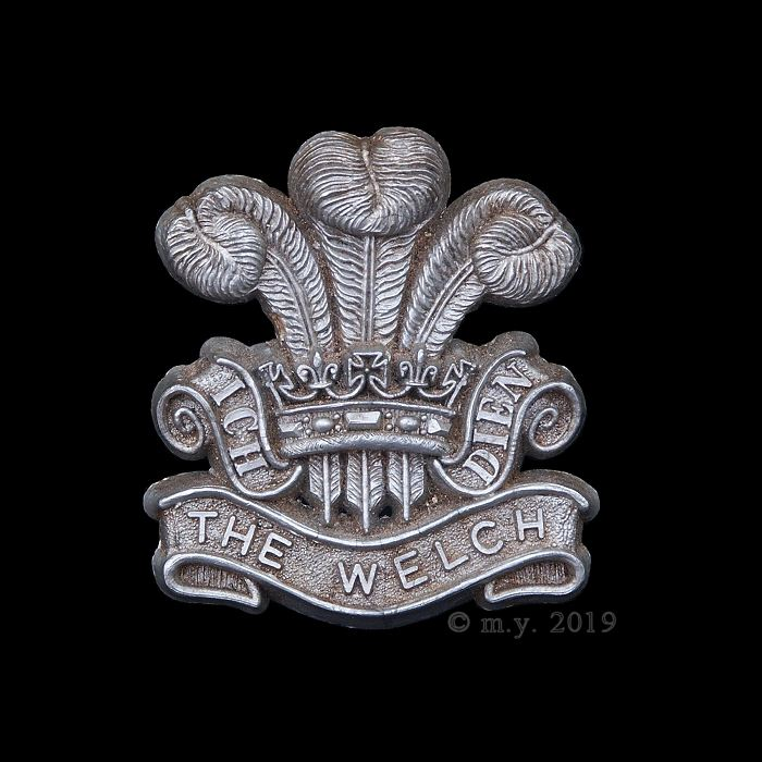 WW2 Welch Regiment Plastic Economy Cap Badge