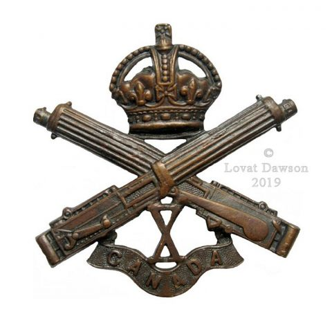 Canadian Expeditionary Force - 10th Canadian Machine Gun Company Cap Badge