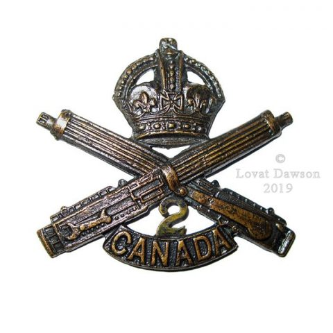 Canadian Expeditionary Force - 2nd Canadian Machine Gun Company Cap Badge