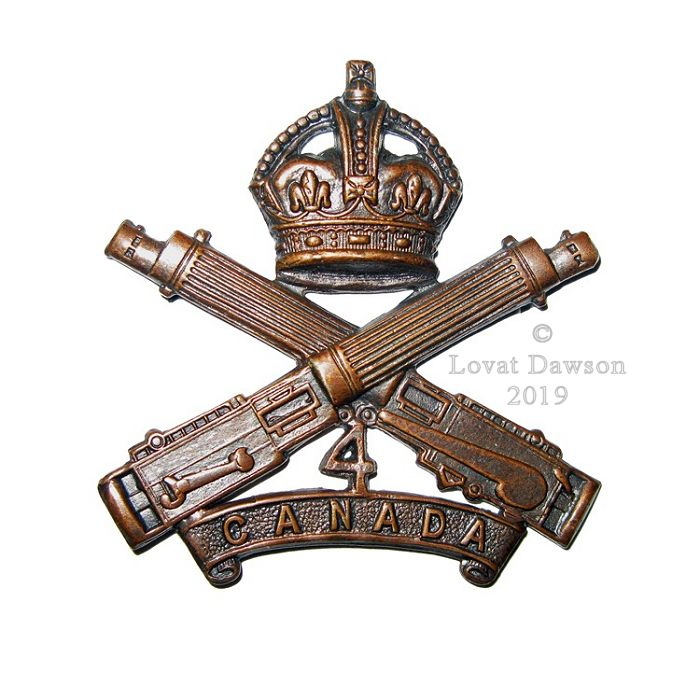 Canadian Expeditionary Force – 4th Canadian Machine Gun Company Cap Badge 2