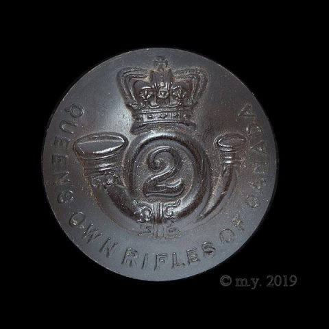 Queen's Own Rifles of Canada Uniform Button