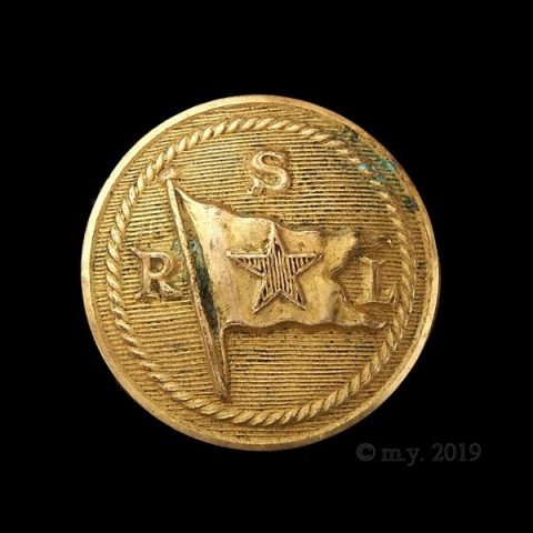 Red Star Line Shipping Merchant Navy Uniform Button