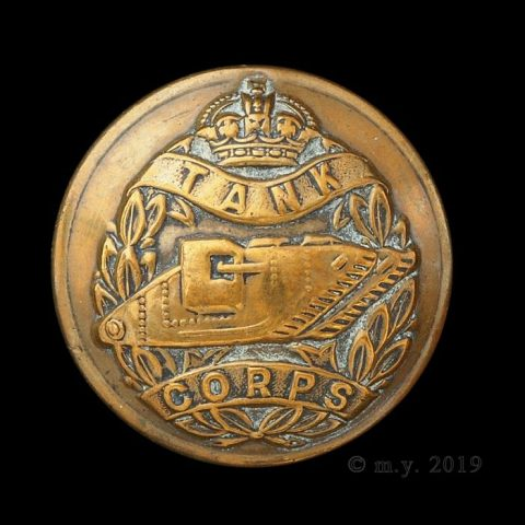 Tank Corps Uniform Button