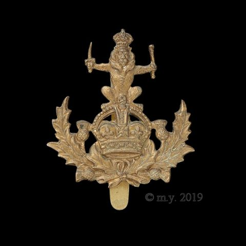 The Queen's Own Royal Glasgow Yeomanry Cap Badge (Wreath Type)
