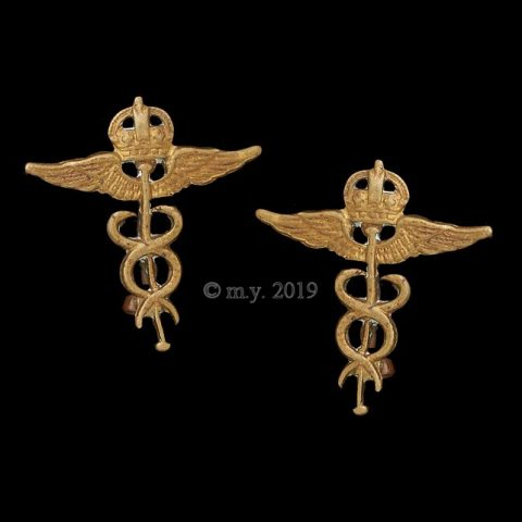 Royal Air Force Medics Collar Badges