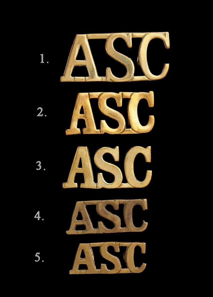 Army Service Corps Shoulder Titles