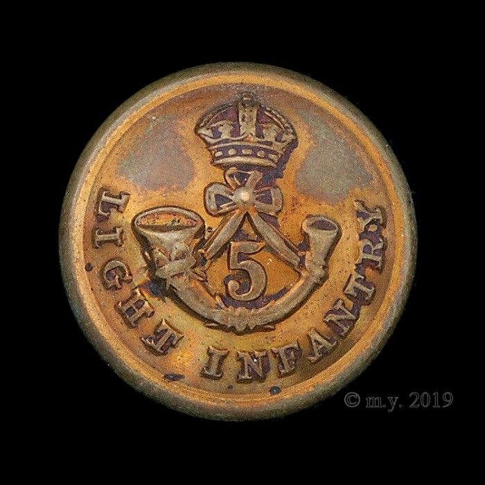 5th Light Infantry Uniform Button (British Indian Army)