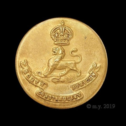 South African Constabulary Uniform Button