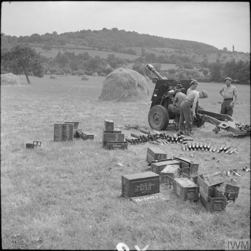 3rd Regiment, Royal Horse Artillery at Boissey, 21 August 1944.