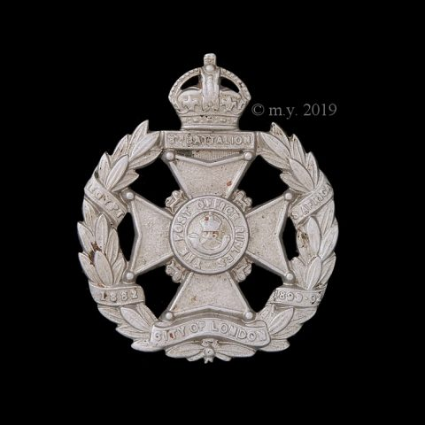 8th City of London Battalion (Post Office Rifles) Cap Badge