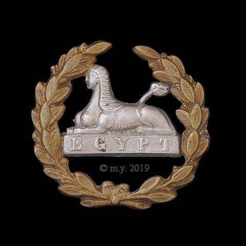 Gloucestershire Regiment Back Badge - Cloth Helmet Type.