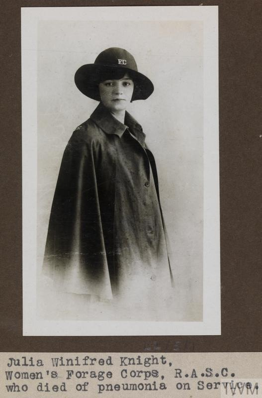 Miss Julia Winifred Knight, Women's Forage Corps