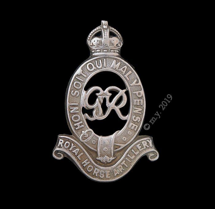Royal Horse Artillery Cap Badge GVIR Type, 1936-52