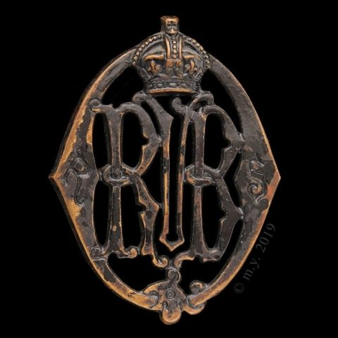 Royal Scots Queen's Volunteer Brigade Glengarry Badge