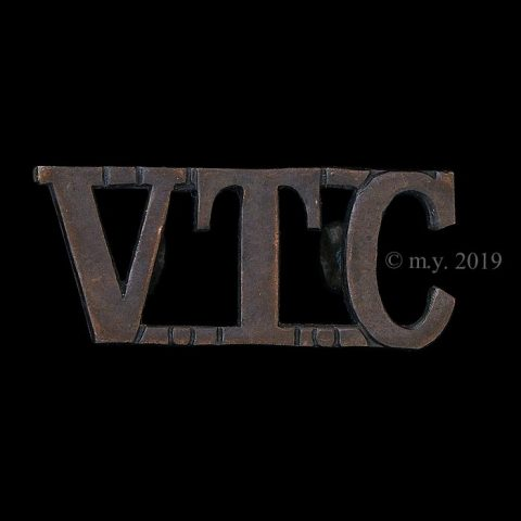 Volunteer Training Corps 'VTC' General Issue Shoulder Title (WWI)