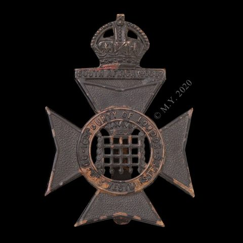 16th County of London Battalion (Queen's Westminster Rifles) Cap Badge